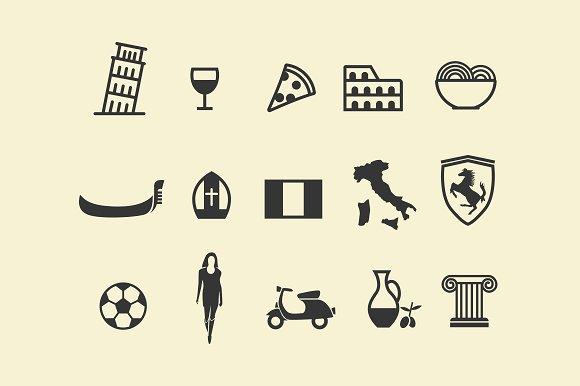 15 Italy Icons
