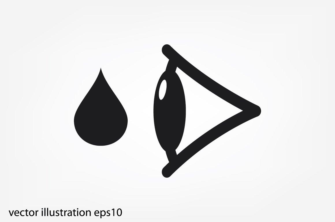 Eye Drops Vector Icon Icons Creative Market
