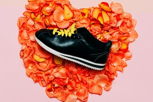 Glamorous shoes flowers