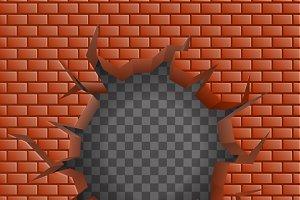 Brick wall Hollow