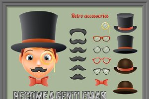 Mustache Bow Glasses
