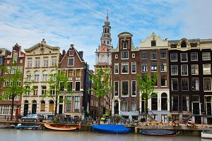 medieval houses of Amsterdam