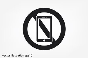 no smart phone sign