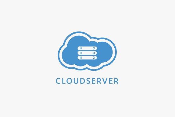 cloud server logo template logo templates creative market