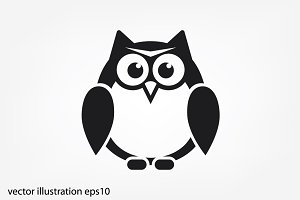 owl icon vector illustration