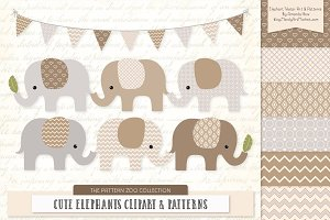 Champagne Elephant Clipart