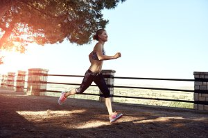 Female runner outdoor