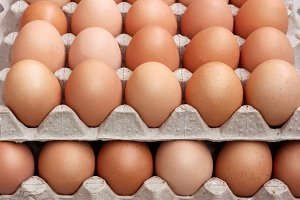 Chicken eggs