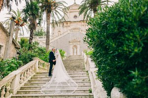 luxury wedding bride and groom