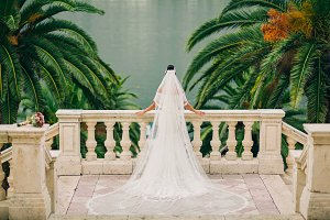bride in luxury wedding dress