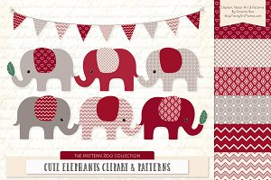 Ruby Red Elephant Clipart