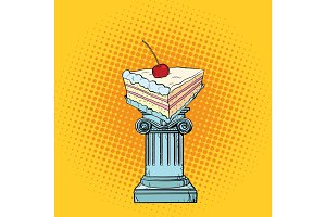 Cake with cherries in the Antiques column