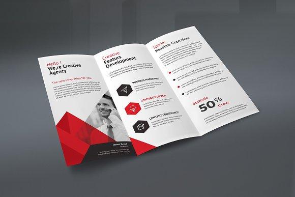 trifold brochure brochure templates creative market
