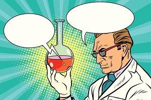 Scientist chemist talks about the analysis