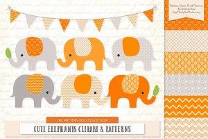 Tangerine Elephant Clipart