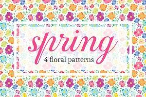 Spring - 4 floral patterns