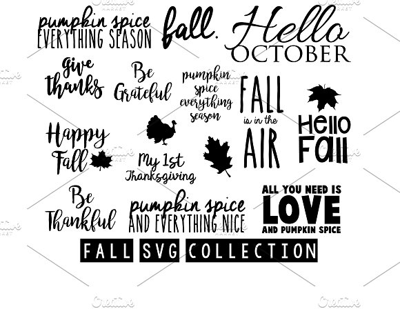 Fall Collection Svg Cut Files Bundle