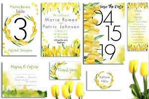 SpringTulips Pack!8psd of Invitation