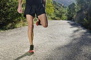 Runner legs warming.