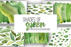 """Shades of Green"" backgrounds"