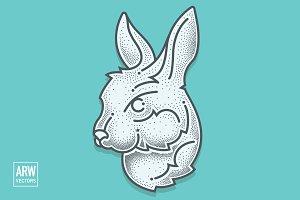 Dotwork Rabbit Head