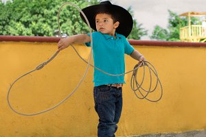 young mexican cowboy with lasso2