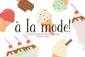 'À La Mode!' Vector Icon Collection