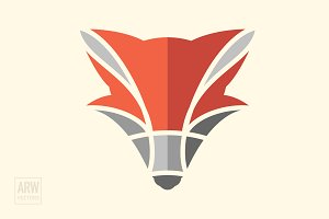 Geometric Fox Head Logo