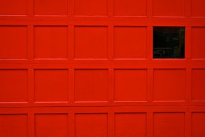 Red Firehouse Door