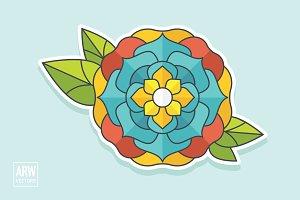 Vector Tattoo Flower