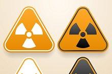 Set of triangular Radiation signs