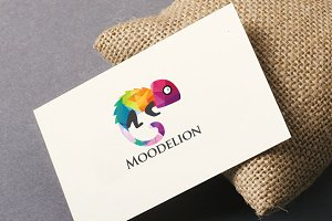 Moodelion Lizzard Colorful Logo