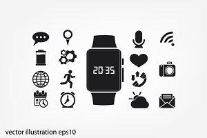 Smart clock icon