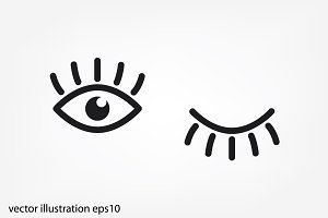 eyes and eyelashes icon