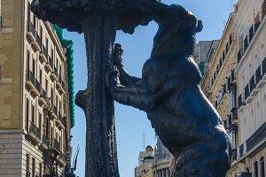 Madrid, Spain. Bear and madrono