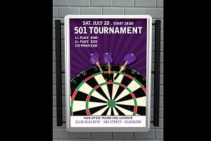 Dart 501 Tournament Flyer