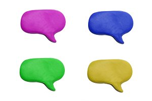 isolated plasticine speech bubble