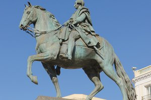 Carlos III Statue in Madrid, Spain