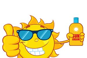 Smiling Summer Sun Showing Thumb Up