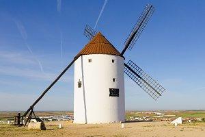 Rear view windmill, Cuenca, Spain
