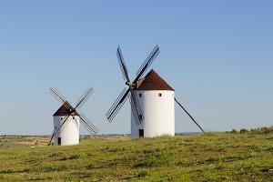 Two windmills in Mota del Cuervo
