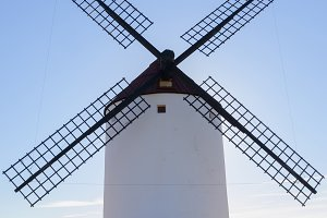 Front view of an spanish windmill