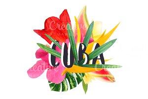 """Floral collage """" Cuba"""""""