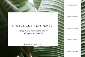 PSD | Pinterest Template