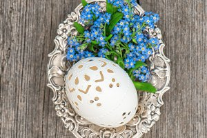 Easter egg vintage decoration