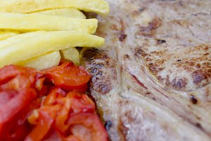 White veal steak
