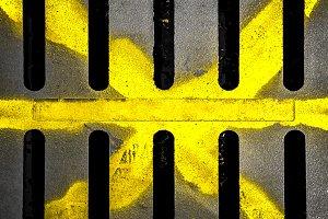 Grungy manhole