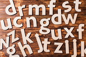 Scattered big letters