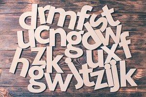 Scattered big letters
