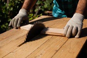 Hard work on the sawmill